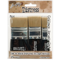 Tim Holtz Distress Collage Brush, pensselisetti, 3kpl