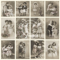 Friendship - From Grandma's Attic - tinted