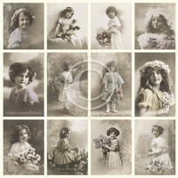 Flower girls - From Grandma's Attic - tinted UUSI!