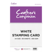 Crafter's Companion - White Stamping Card A4, valkoinen, 300g, 60ark