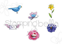 Leima, Stamping Bella, Mister Postie Signs Of Spring
