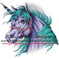 Leima, C.C. Designs, Dove Art Unicorn