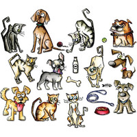 Stanssisetti, Sizzix Thinlits Crazy Cats & Dogs
