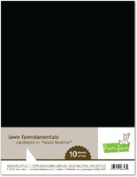 Lawn Fawn - Black Licorice Cardstock 8,5