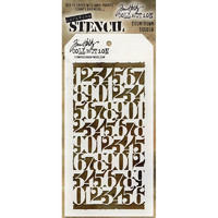 Tim Holtz Layered Stencil, Countdown