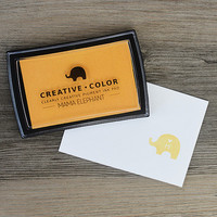 Mama Elephant Creative Color Pigment Ink-leimamuste, Buttercup