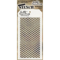 Tim Holtz Layered Stencil, Herringbone
