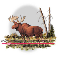 Leima, C.C. Designs, Dove Art Moose Scene