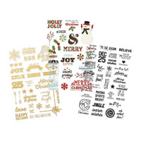 Tarrasetti, Classic Christmas Clear Stickers