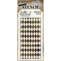 Tim Holtz Layered Stencil, Harlequin