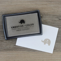 Mama Elephant Creative Color Pigment Ink-leimamuste, Brown Sugar