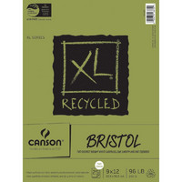 Canson XL Recycled Bristol Paper 9'x12', 260g, 25arkkia