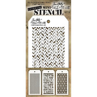Tim Holtz Mini Layered Stencil, Set #13