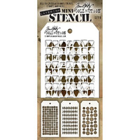 Tim Holtz Mini Layered Stencil, Set #9