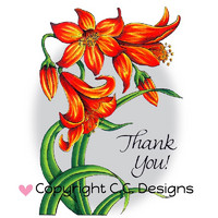 Leima, C.C. Designs, Dove Art Flower Lily