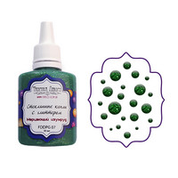 Glass Drops-aine, Shimmering Emerald, 30ml