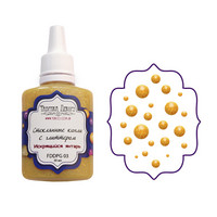 Glass Drops-aine, Sparkling Amber, 30ml