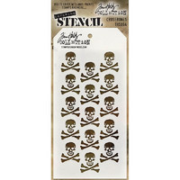 Tim Holtz Layered Stencil, Crossbones