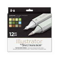 Spectrum Noir Illustrator, 12kpl, Landscape