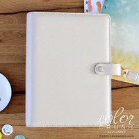 Color Crush A5 Planner-kannet, White