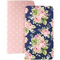 Color Crush Travelers' Notepad Set, Floral & Stars, 2kpl