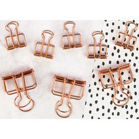 My Prima Planner Mini Binder Clips, Rose Gold Wire, 8kpl