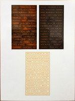 Jen Hadfield Simple Life Embossed Stickers, Rose Gold Foiled Words, tarrasetti, 117 osaa