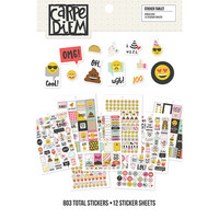 Carpe Diem Emoji Love Sticker Tablet, 803 tarraa