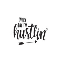Carpe Diem I'm Hustlin' Black Planner Decal, vinyylitarra