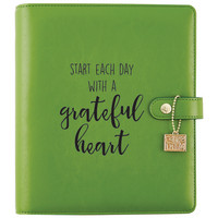 Carpe Diem Grateful Heart Black Planner Decal, vinyylitarra