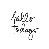 Carpe Diem Hello Today Black Planner Decal, vinyylitarra
