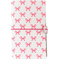 Freckled Fawn Sleek Traveler's Notebook, Pink Bows