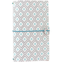 Freckled Fawn Sleek Traveler's Notebook, Mint Diamond Geometric