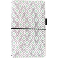 Freckled Fawn Pocket Traveler's Notebook, Mint Diamond Geometric