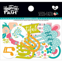 Illustrated Faith Bright Brave Designer Clips, Seeds Of Faith, 16kpl