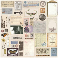 Prima Marketing - Prima Traveler's Journal Ephemera & Stickers, Vintage
