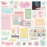 Prima Marketing - Prima Traveler's Journal Ephemera & Stickers, Sweet Notes