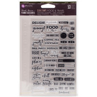 Prima Marketing - My Prima Planner Clear Stamps, Food & Travel