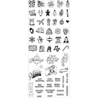 Prima Marketing - My Prima Planner Clear Stamps, Christmas Mini Icons & Words