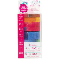 Jane Davenport Mixed Media Washi Tape Rolls, Palette, 7 rullaa