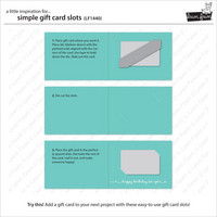 Lawn Fawn - Stanssisetti, Simple Gift Card Slots