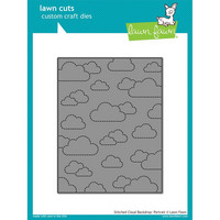 Lawn Fawn - Stanssi, Stitched Cloud Backdrop: Portrait