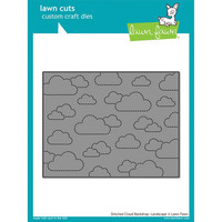 Lawn Fawn - Stanssi, Stitched Cloud Backdrop: Landscape