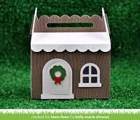 Lawn Fawn - Scalloped Treat Box Winter House, Stanssisetti