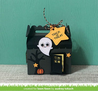 Lawn Fawn - Scalloped Treat Box Haunted House, Stanssisetti