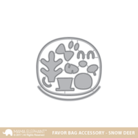 Mama Elephant - Favor Bag Accessory, Snow Deer, Stanssisetti
