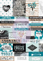 Prima Marketing - Zella Teal- Word Stickers, Tarrasetti