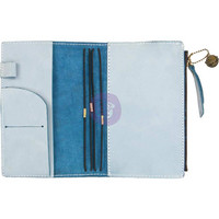 Prima Marketing - Prima Traveler's Journal Leather Essential Personal, Ice Blue