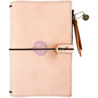 Prima Marketing - Prima Traveler's Journal Leather Essential Personal, Peach