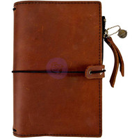 Prima Marketing - Prima Traveler's Journal Leather Essential Personal, Rust Brown